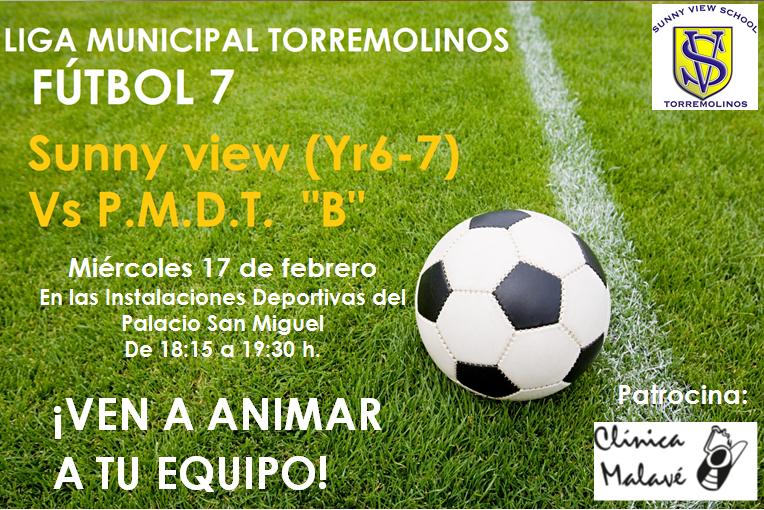 PARTIDO FOOTBALL MIERCOLES 17 DE FEBRERO